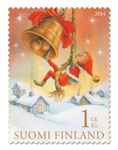 Joulupostimerkki 2014 Nordic Thoughts: They are here: the Finnish Christmas stamps 2014 Noel Christmas, Vintage Christmas Cards, Retro Christmas, Christmas Images, Vintage Cards, Christmas Morning, Commemorative Stamps, Postage Stamp Art, Tampons