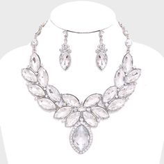 """Laurel Marquise Crystal Rhinestone Necklace Color : Gold, Lt Col Topaz Necklace Size : 16"""" + 3"""" L Decor Size : 3"""" L Earrings Size : 2"""" L Jewelry Necklaces"""