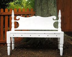 Bed headboard, made into a bench.