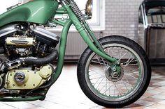 biker excalibur II: 88 Harley Sportster – Adam's Custom Shop via Pipeburn