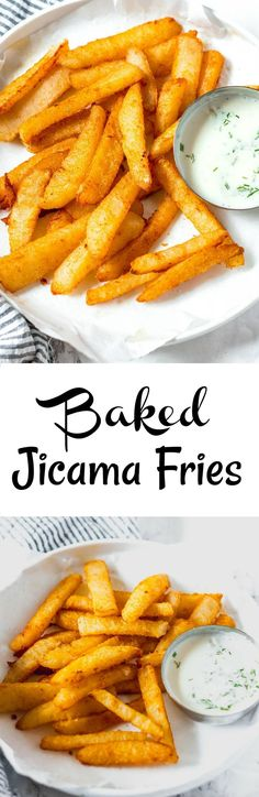 Easy Baked Jicama Fries, simple way to prepare Mexican potato. vegan, gluten-free. It looks like a potato but texture and taste are different.#vegan #glutenfree #mexicanpotatorecipe