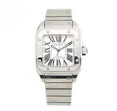 811490191fe5 Cartier Santos 100 Stainless Steel Men's Watch 2656 (Certified Pre-owned)