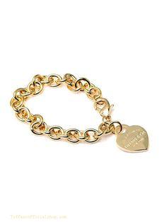 Tiffany & Co Outlet Bracelets Gold Heart Tag