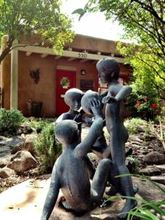 Passport to the Arts on Canyon Road Mother's Day weekend Mothers Day Weekend, Canyon Road, Santa Fe, New Mexico, Passport, Garden Sculpture, Vacation Photo, Sculptures, Statues