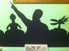 Wall mural... I need to make something like this for under my TV