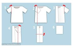 7 Folding Hacks That Save Major Closet and Drawer Space: How to Fold a T Shirt