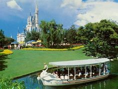 Disney theme park attractions you will never ride again: Plaza Swan Boats {Walt Disney World 1973 To 1983}