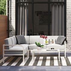 Beacon Hill 4-pc. Metal Patio Sectional Set - Room Essentials™ : Target