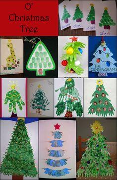 Handprint and Footprint Arts & Crafts: Handprint & Footprint Christmas Tree Crafts