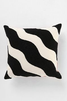Cool black and white pillow.