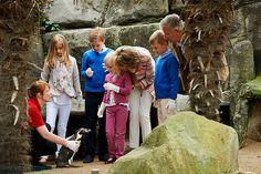 Belgian royal children start summer holidays with penguin-feeding at Sealife