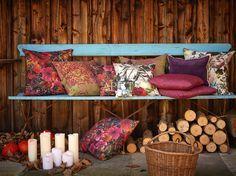 romantische Stimmung auf der Veranda mit Kissen von Apelt, Artikel 7917, TILDA, 7912, 7908, TAHITI, 7907