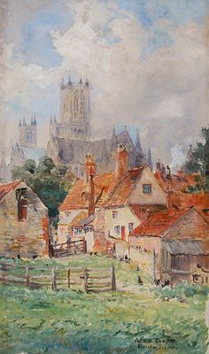 """Colin Campbell Cooper, 1902 """"Adam and Eve Inn, Lincoln, England"""""""