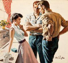 Arthur Sarnoff Vintage Pulp Art Illustration | Female-Centric Pulp Art | Sugary.Sweet | #Pulp #Art #Illustration