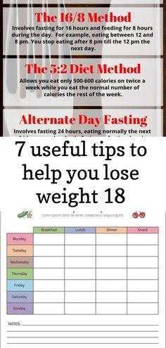 Wöchentliche Menü-Fasten-Diät