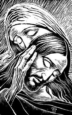Divine Mercy Image, Scratchboard Art, Bible Images, Prophetic Art, Biblical Art, Arte Pop, Sacred Art, Religious Art, Paintings