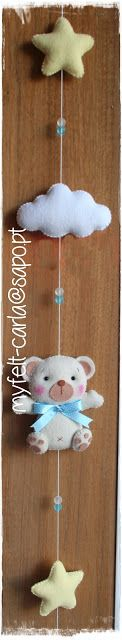 My Felt: Fios para decorar os cortinados com ursinhos, nuvens e estrelas em feltro!