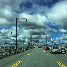 Angus L. MacDonald Bridge connecting Halifax & Dartmouth, Nova Scotia, Canada