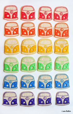 how cute are these cookies! i think i need to make these for my vw lovin' fam!