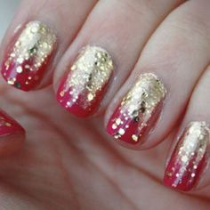 Learn This Dazzling Fuchsia and Fade-to-Gold Manicure