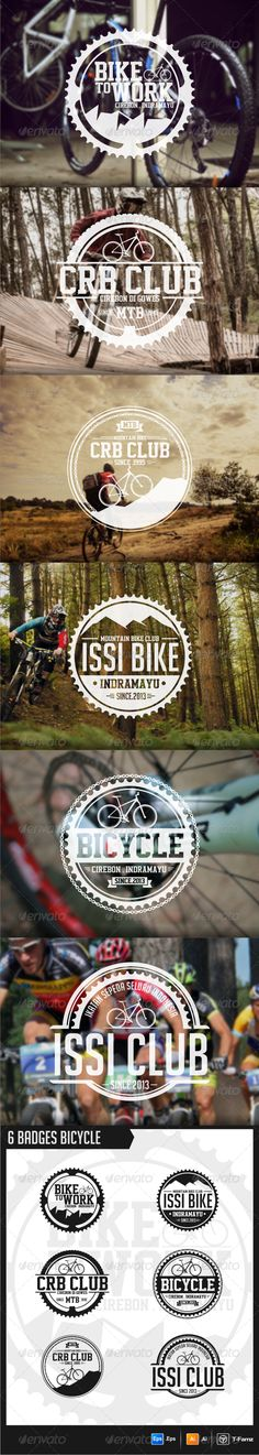 Bicycle Badges  EPS Template • Get it now! ➝ https://graphicriver.net/item/bicycle-badges-/5830397?ref=pxcr
