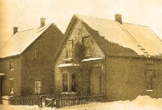 The most famous and frightening poltergeist case in Canadian history: The house rented by the Cox family in  Amherst, Nova Scotia in the 1870s.