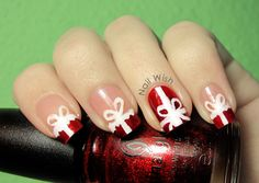 Nail Wish: Winter Holiday Challenge #4: Present and Gift Wraps