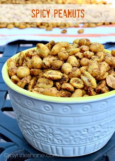"""When we were eating out recently, the restaurant served a bowl of spicy peanuts while we waited for our meals to arrive. We all devoured them. Fast forward to last night. My husband came home from the grocery store with a jar of dry roasted peanuts and asked me if I thought I could come...</p><p><a class=""""more-link"""" href=""""http://www.musingsofahousewife.com/spicy-peanuts.html"""">Read More »</a></p>"""