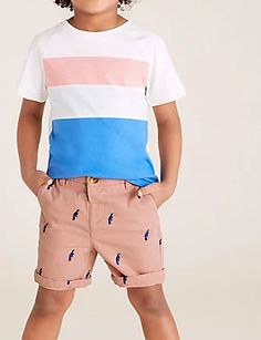Pure Cotton Toucan Chino Shorts (2-7 Yrs) | M&S Boy Outfits, Spring Outfits, Living Proof Hair Products, Cami Set, London Spring, Brand Collection, China, Best Jeans, Chino Shorts