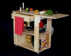 Barra cocina americana con mueble ikea ideas para el for Mesa auxiliar de cocina con ruedas