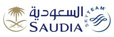 """Saudia: The flag carrier of Saudi Arabia re-branded last year and adopted its old name of """"Saudia"""". The airline logo mirrors the logo of the country, consisting of two crossed swords with a palm tree in the space above and between the blades."""