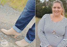Stripes and Boyfriend Jeans {She Wore What} #ASOS #MIX #plus #size #fashion