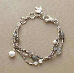 moonstones, labradorite, freshwater pearls