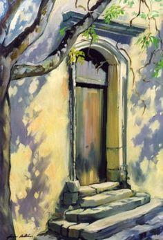 Medieval Church Door...Maria Bertran (Venezuela)