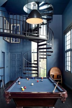 Jessica Alba game room by Consort