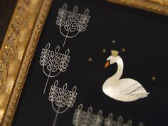 swan embroidery