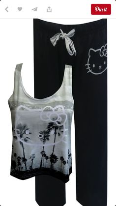 Hello Kitty Tropical Vacation Pajamas Dreaming of those long lazy days on the beach?you can feel like Hello Kitty Clothes, Hello Kitty Items, Wonderful Day, Cute Pjs, Hello Kitty Collection, Outfit Trends, Pajamas Women, Sleepwear Women, Lounge Wear