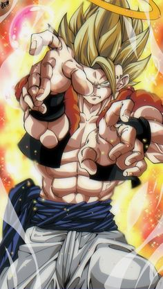 Dragon Ball Z, Dbz Super Saiyan, Toni Mahfud, Kurama Naruto, Fusion Art, Son Goku, Geek Stuff, Wallpaper, Artwork