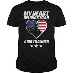Get yours beautiful My Heart Belongs To An Army Ranger NEW GIFT Shirts & Hoodies.  #gift, #idea, #photo, #image, #hoodie, #shirt, #christmas
