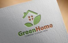 Green Home Logo by Creative Dezing on @creativemarket