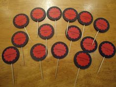 Karate Party Birthday Cupcake toppers