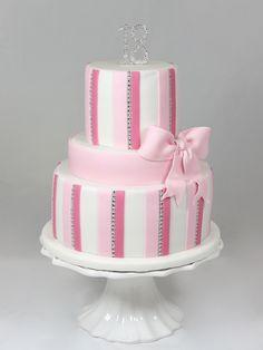 Geburtstag Birthday Cake Torte Girl Pink Bling Bling Stripes Streifen