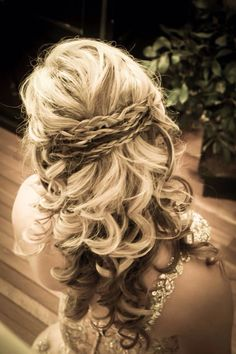 Prom or Bridal hair. Half up