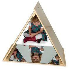 Whitney Brothers Whitney Brothers Home School Kids Pretend Play Room Triangle Mirror Tent