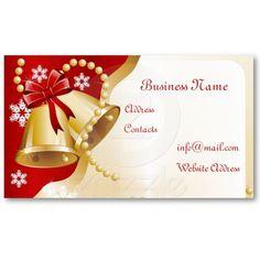 Christmas Bells Business Card by elenaind