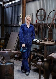 Anna Charlesworth metalworking studio in Williamstown, Melbourne ...