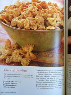 Very good! Made with Tony Cachere's Creole Seasoning. They sat out all night after the party and are still crunchy and delish!