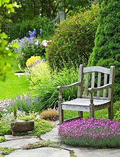 Garden retreat rustic chair