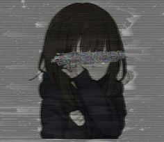 Nothings is forever: The coffeed is cooled The cigar goes out, Time passes and people change. Dark Anime Girl, Kawaii Anime Girl, Anime Art Girl, Manga Art, Manga Anime, Fanarts Anime, Anime Characters, Poses References, Gothic Anime