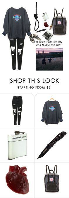 """""""Untitled #8"""" by floatingskeleton ❤ liked on Polyvore featuring Topshop, Hot Topic, Jim Beam, Fjällräven, Nintendo and Converse"""